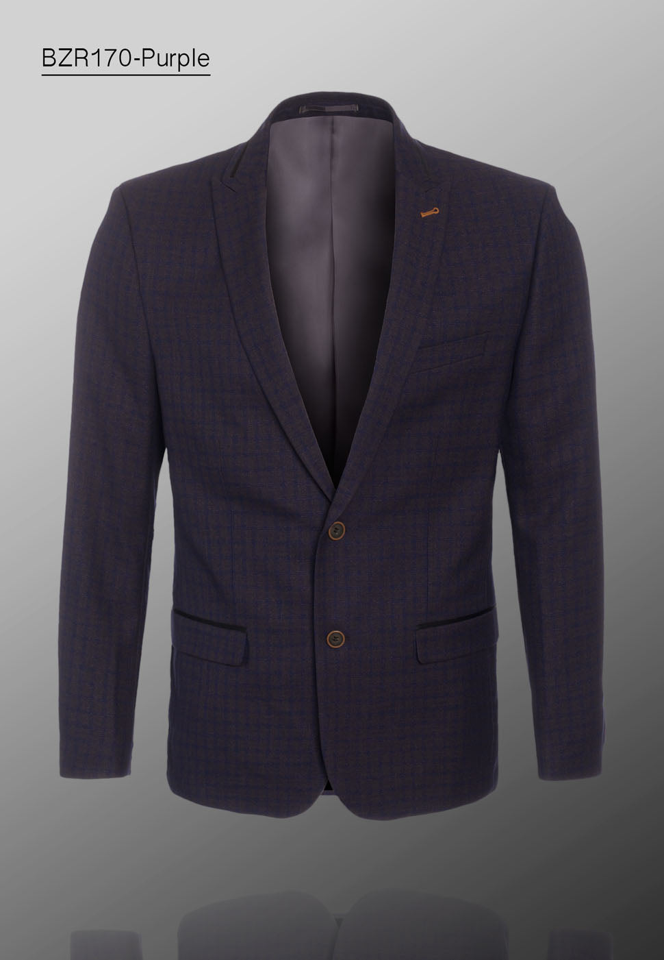 De-Niko Purple Plaid Blazer WHOLESALE ONLY
