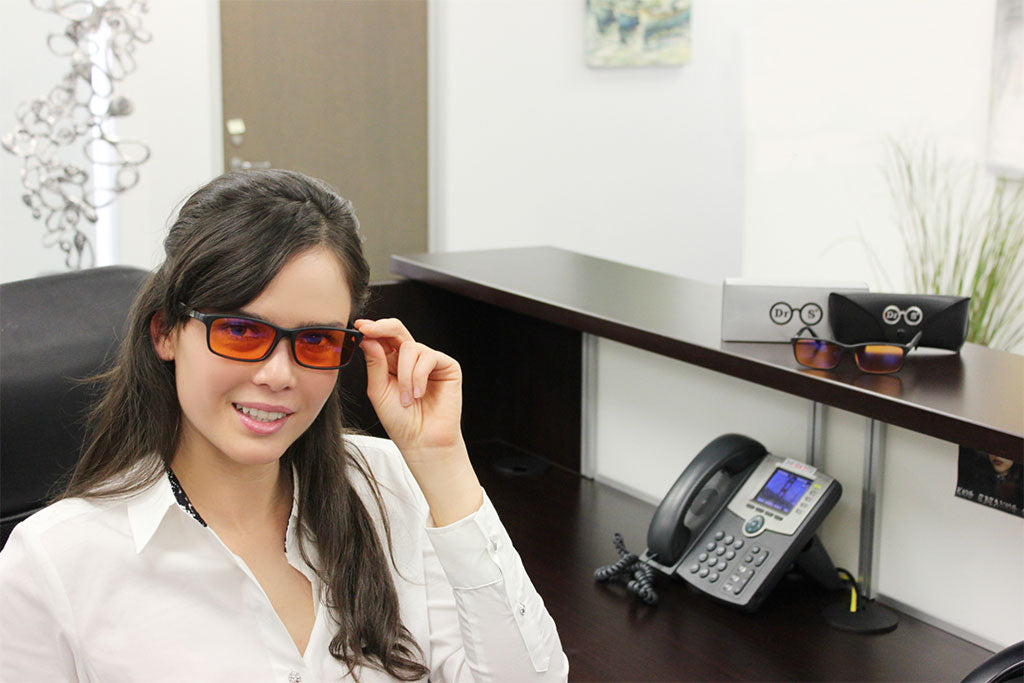 65dca6ef3a How Blue Light Filter Glasses Could Help Your Dry Eyes – Dr. S Eyewear