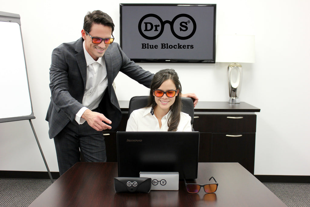 Large Square Blue Light Filtering Glasses