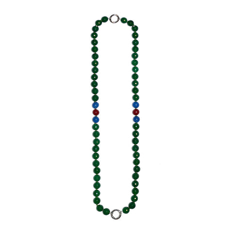"""GIFT 26 - GREEN AGATE"" STYLISH SPIRITUAL GEM NECKLACE"
