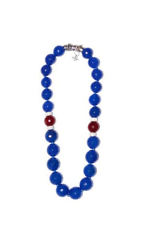 """BLUE 10"" EXCLUSIVE GEM NECKLACE"