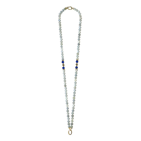 """GIFT 16 - AQUAMARINE"" SPIRITUAL GOLDEN NECKLACE FOR HIM AND HER"