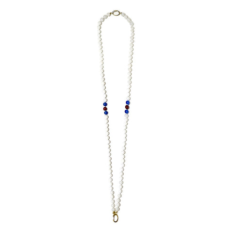 """GIFT 11- WHITE AND GOLD"" SPIRITUAL GOLDEN GEM NECKLCE FOR HIM AND HER"