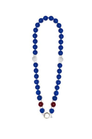 """BLUE 16"" EXCLUSIVE GEM NECKLACE"