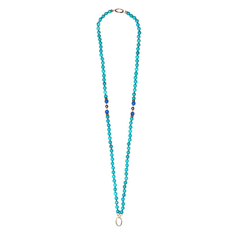 """GIFT 16 - TURQUOISE"" SPIRITUAL GEM NECKLACE FOR HIM AND FOR HER"