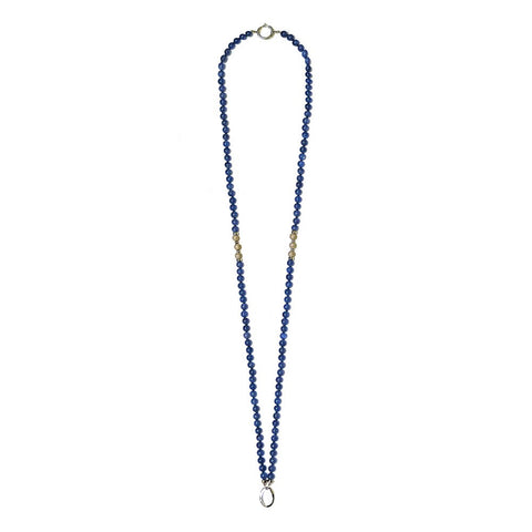 """TANZANIA - SNOW"" TANZANITE GEM WHITE GOLD NECKLACE"