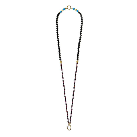 """BRIGHTNESS - BLUE & BRIGHTNESS"" EXCLUSIVE SPIRITUAL GOLD AND GEM NECKLACE"