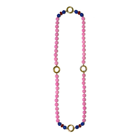 """GIVE AND GIVEN - PINK J"" SPIRITUAL GEM NECKLACE SUPER TRANSFORMATION"