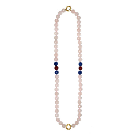 """GIFT 26 - ROSE QUARTZ"" STYLISH SPIRITUAL GEM NECKLACE"
