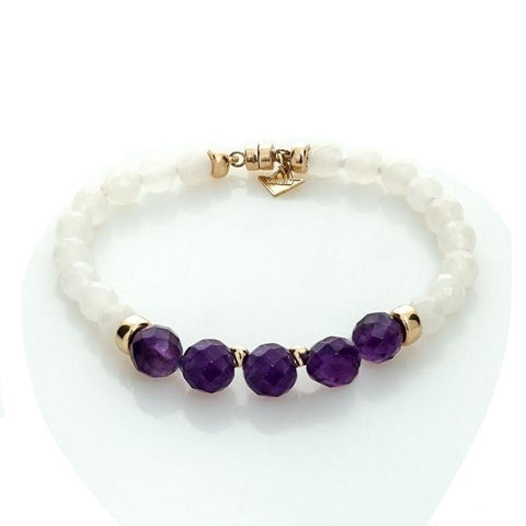 """THE TOUCH"" SPIRITUAL YELLOW GOLD AND GEM BRACELET"