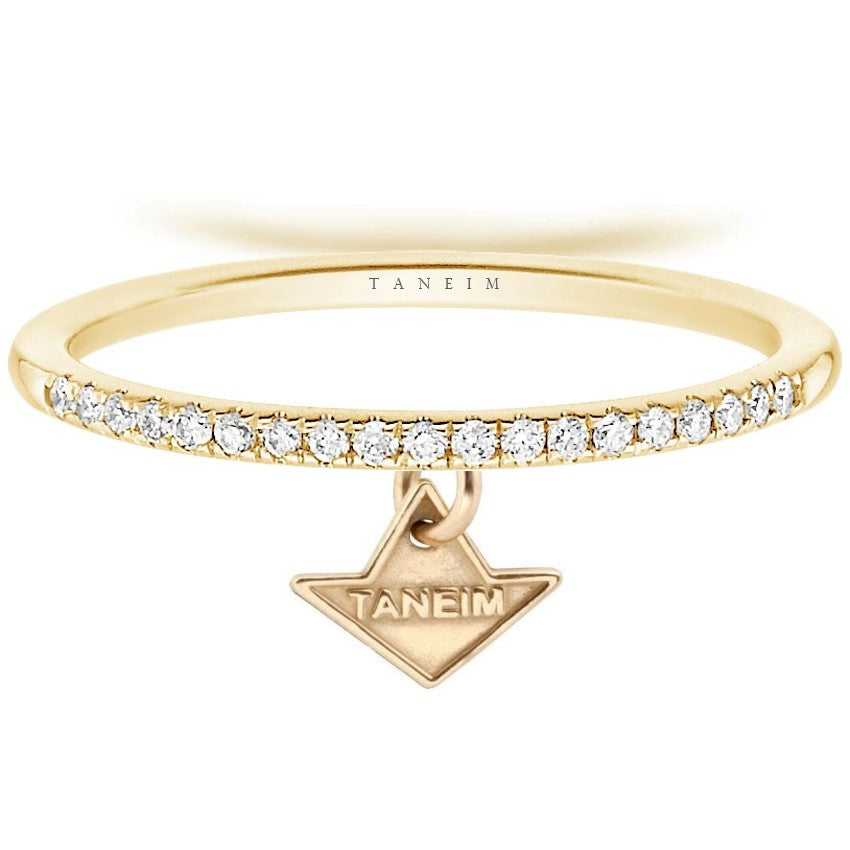 18 K YELLOW GOLD DIAMOND STAR BAND