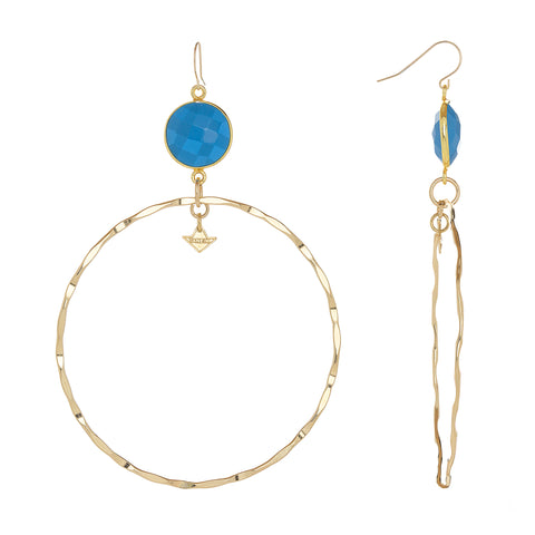 """SUPPER HOOPS- DEEP"" EARRINGS"