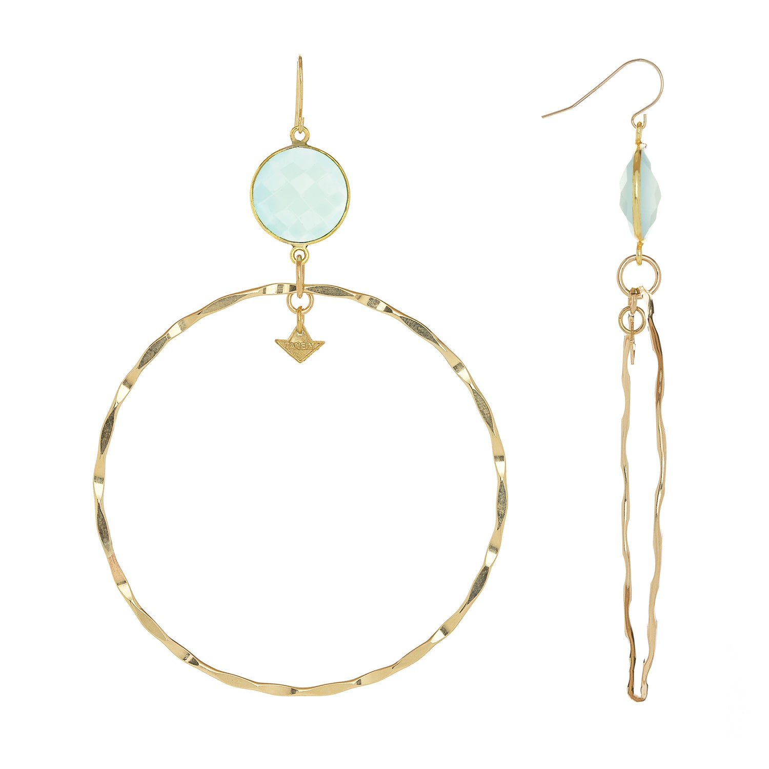 """SUPPER HOOPS - MINT"" EARRINGS"