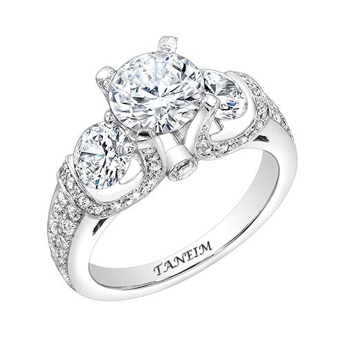 EXCLUSIVE DIAMOND ENGAGEMENT SETTING 0.70 CT F-G/VS2 GIA STANDART