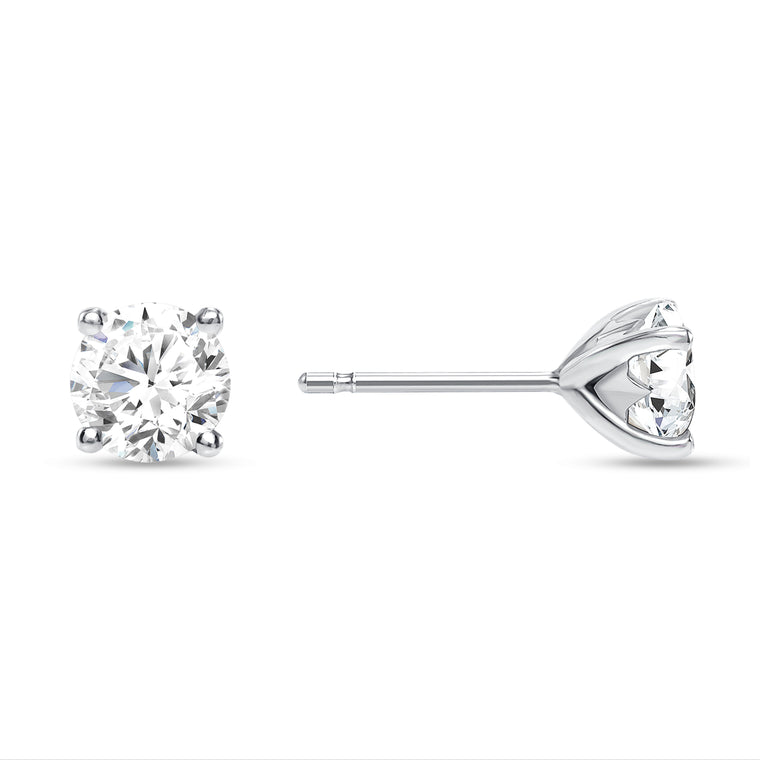 SOLITAIRE DIAMOND STAR STUD EARRINGS 2.00 CT.TW