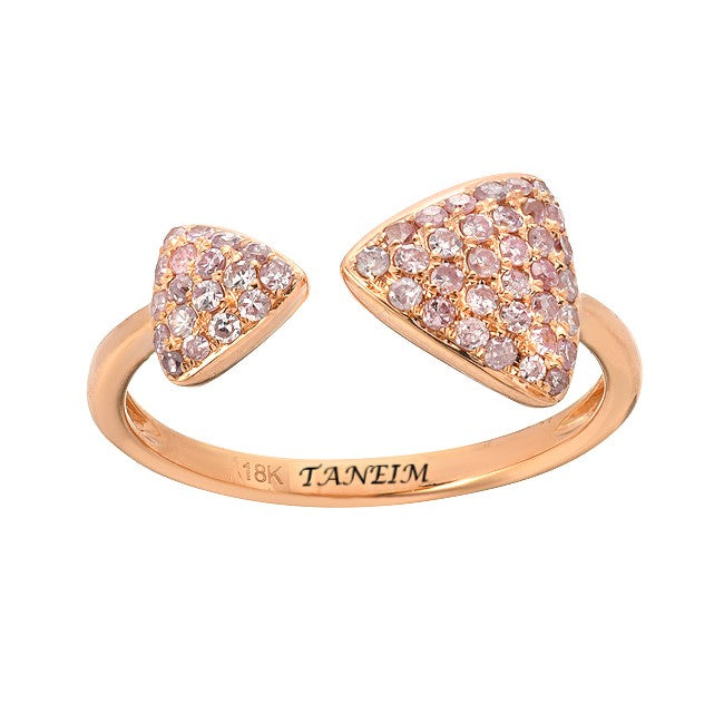"""INTENTION"" ROSE GOLD NATURAL PINK DIAMOND RING"