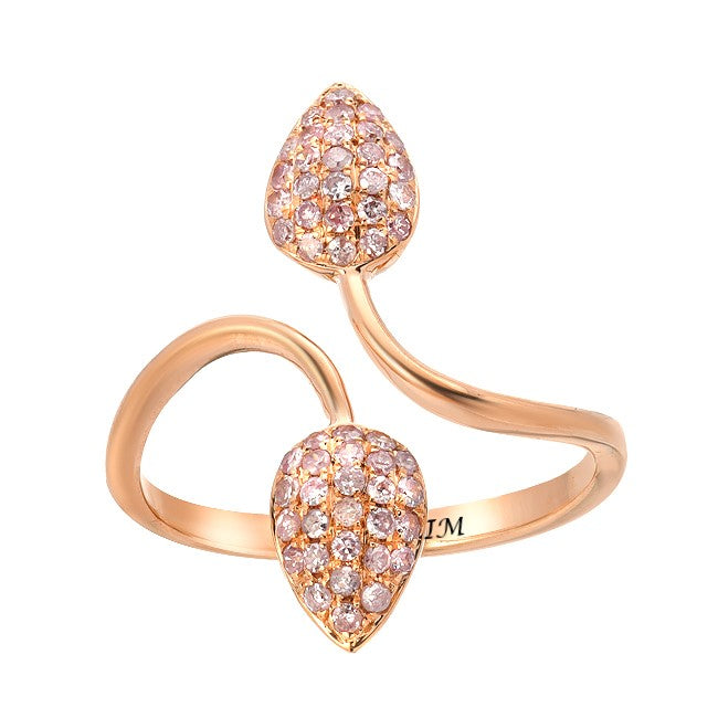"""LEAD""ROSE GOLD NATURAL PINK DIAMOND RING"