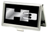Business Card Holder - SMALL - H3 FCG Black/Silver Logo