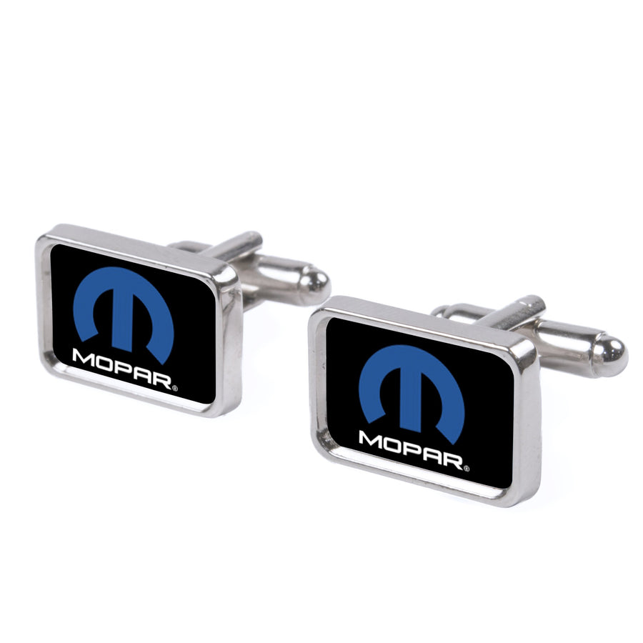 Cufflink Set - MOPAR Logo FCG Black/Blue/White