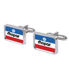 Cufflink Set - MOPAR Chrysler Logo FCG White/Blue/Red/Black