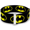 Cinch Waist Belt - Batman Shield-2 Black Yellow