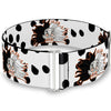 Cinch Waist Belt - Cruella De Vil Driving Mad Face/Dalmatian Spots White/Black - ONE SIZE - Disney Villains