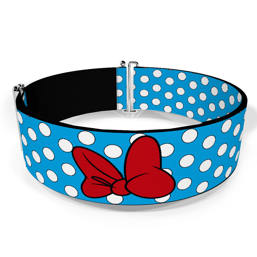 Cinch Waist Belt - Minnie Mouse Dots Blue/Black/White