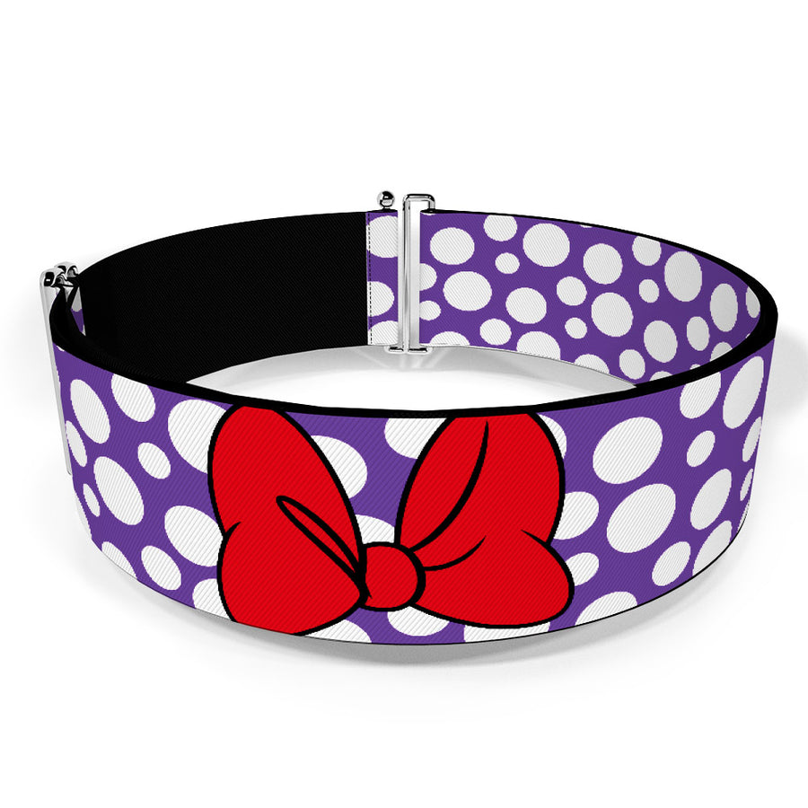 Cinch Waist Belt - Minnie Mouse Multi Dots Purple/White