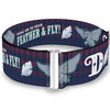 Cinch Waist Belt - Dumbo 2-Poses D Icon HANG ON TO YOUR FEATHER & FLY! Diamond Checker Navy Red White