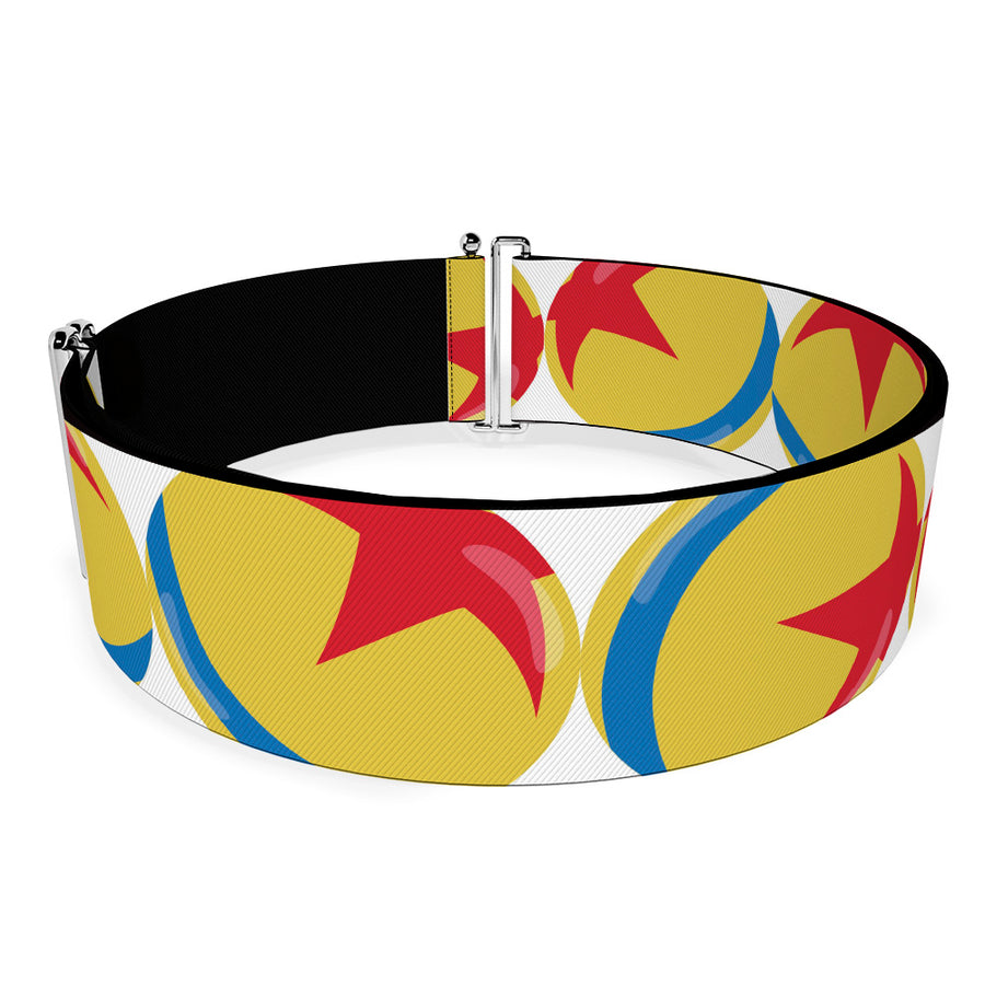 Cinch Waist Belt - Disney Pixar Luxo Ball Repeat White Yellow Blue Red