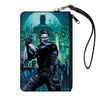 Canvas Zipper Wallet - LARGE - The New 52 Detective Comics Issue #25 James Gordon Cover Pose Blues/Greens
