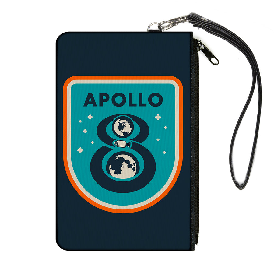 Canvas Zipper Wallet - LARGE - APOLLO 8 Orbit Blues/Orange/White