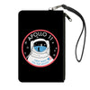 Canvas Zipper Wallet - LARGE - APOLLO 11-FIRST MAN ON THE MOON Black/White/Red/Blues