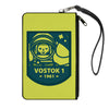 Canvas Zipper Wallet - LARGE - VOSTOK 1-1961 Cosmonaut Greens/Blues