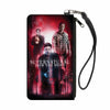 Canvas Zipper Wallet - LARGE - SUPERNATURAL-JOIN THE HUNT Crowley/Dean/Sam Group Pose Black/Red Glow