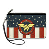 Canvas Zipper Wallet - LARGE - WONDER WOMAN/Logo Americana Red/White/Blue/Yellow