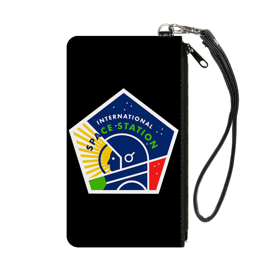 Canvas Zipper Wallet - SMALL - INTERNATIONAL SPACE STATION Pentagon Black/White/Multi Color