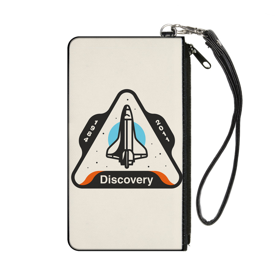 Canvas Zipper Wallet - SMALL - SPACE SHUTTLE DISCOVERY 1984-2011 Space Shuttle White/Gray/Blue/Orange