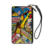 Canvas Zipper Wallet - SMALL - Classic ACTION COMICS and SUPERMAN Comic Book Covers Stacked