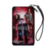 Canvas Zipper Wallet - SMALL - SUPERNATURAL-JOIN THE HUNT Crowley/Dean/Sam Group Pose Black/Red Glow