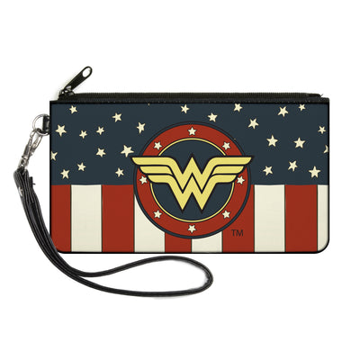 Canvas Zipper Wallet - SMALL - WONDER WOMAN/Logo Americana Red/White/Blue/Yellow