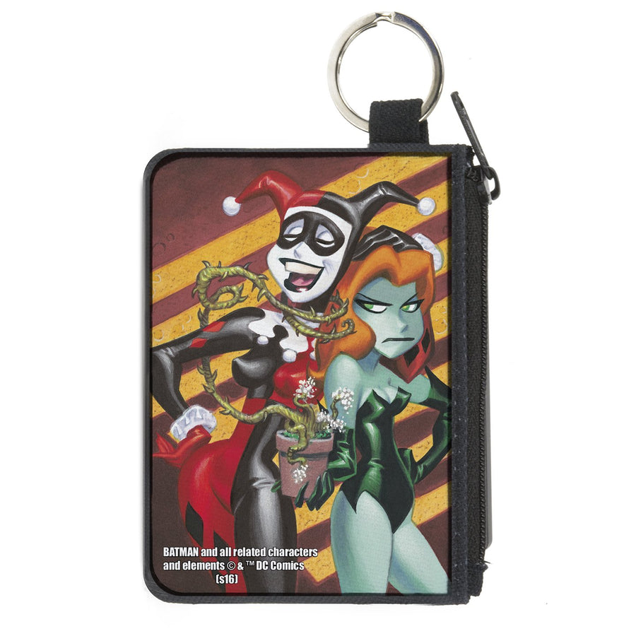 Canvas Zipper Wallet - MINI X-SMALL -  Harley & Ivy Issue #1 Laughing/Mad Stripe Cover Pose