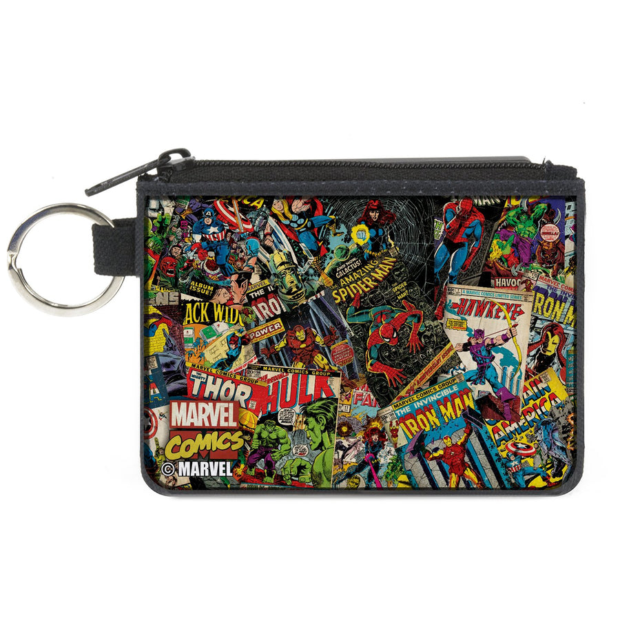 MARVEL COMICS   Canvas Zipper Wallet - MINI X-SMALL - Retro Marvel Comic Books Stacked2
