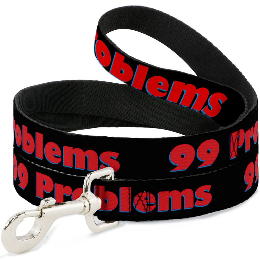 Buckle-Down Dog Leash - 99 PROBLEMS Black/Red