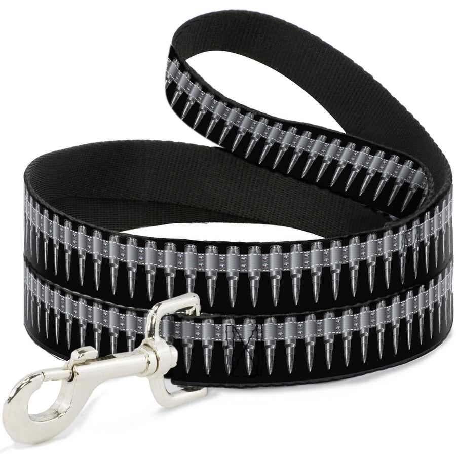 Buckle-Down Dog Leash - Bullets Black/Gray