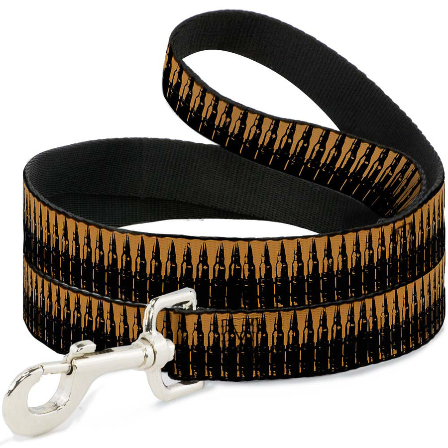 Buckle-Down Dog Leash - Bullets2 Orange/Black