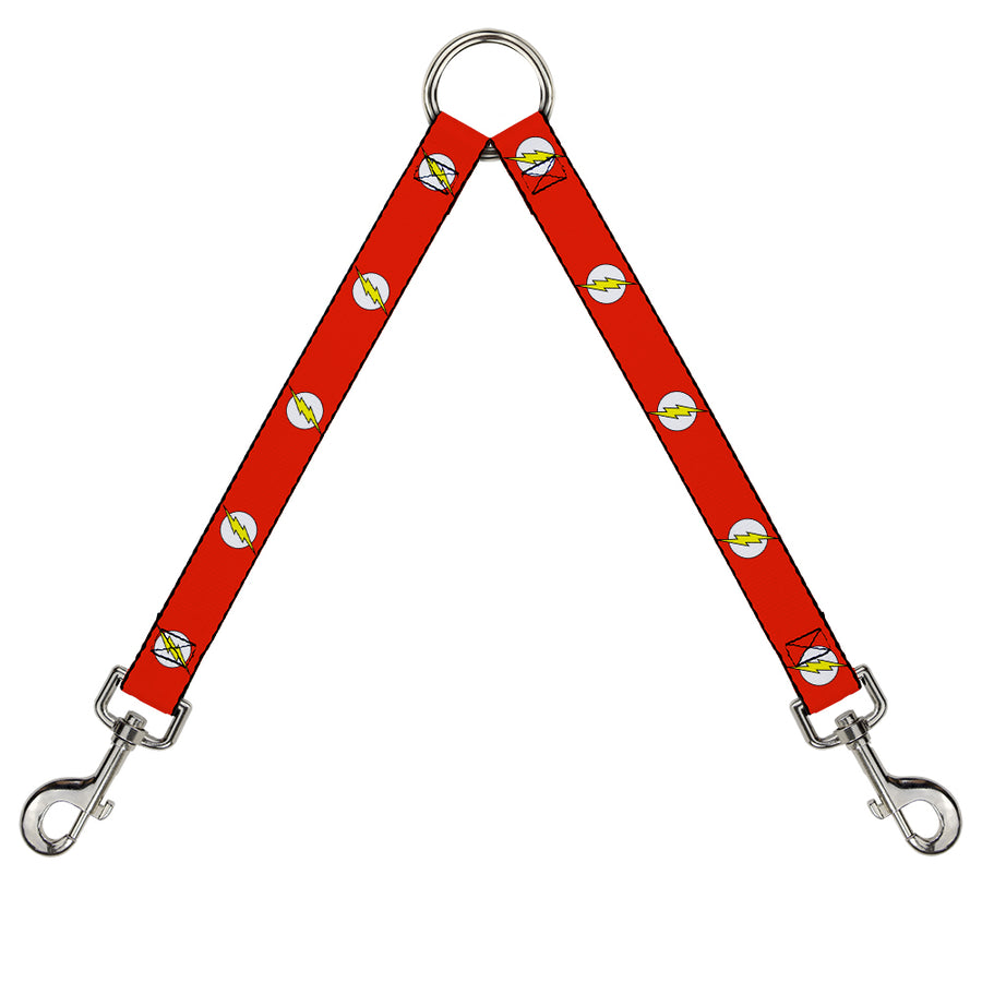 Dog Leash Splitter - Flash Logo Red/White/Yellow