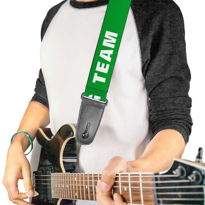 Guitar Strap - IRISH DRINKING TEAM Green/White