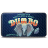 Hinged Wallet - Dumbo Face Feather ASTOUND YOUR MIND & EYES & HEARTS Circus Sign Blues