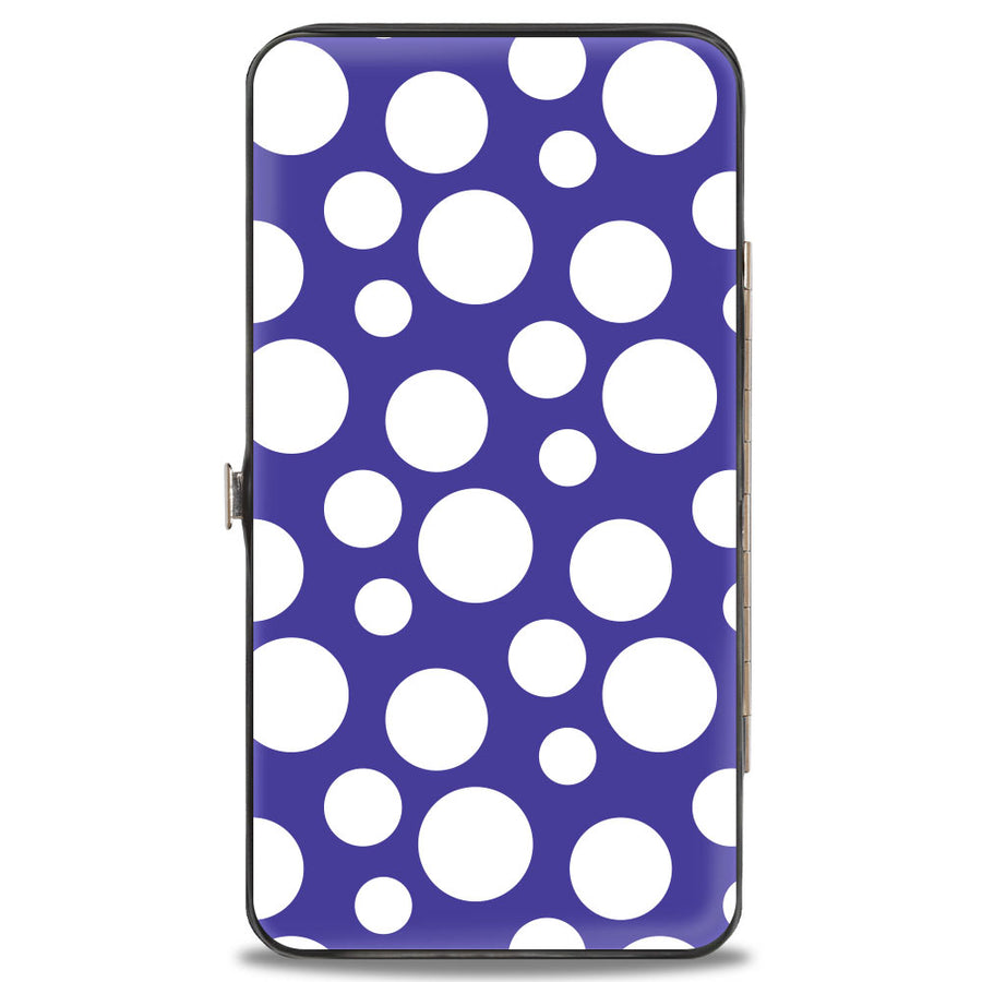Hinged Wallet - Hollywood Minnie Over Shoulder Pose + Dots Purples/White